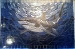 Mosaikkunst aus Fliesenstücken auf Netz,zur Verlegung an der Wand (z.B. über Badewanne) B:80cm H:60cm , PREIS auf Anfrage, auf KUNDENWUNSCH auch in anderer Grösse und Farbe herstellbar