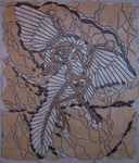 Mosaikkunst aus Fliesenstücken auf Netz,zur Verlegung an Wand oder Boden, 86/73,5cm,VERKAUFT, auf KUNDENWUNSCH auch in anderer Grösse und Farbe herstellbar