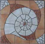 osaikkunst aus Fliesenstücken auf Netz,zur Verlegung an Wand oder Boden,60/60cm, VERKAUFT, auf KUNDENWUNSCH auch in anderer Grösse und Farbe herstellbar