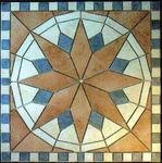 Mosaik aus Fliesenstücken auf Netz, zur Verlegung an der Wand oder Boden, 60/60cm, VERKAUFT, auf KUNDENWUNSCH auch in anderer Grösse und Farbe herstellbar