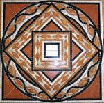 Marmor - Mosaik , 90/90cm, VERKAUFT