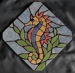 Mosaik aus Fliesenstücken auf Netz, zur Verlegung an der Wand, 24,5/24,5 cm, PREIS auf Anfrage, auf KUNDENWUNSCH auch in anderer Grösse und Farbe herstellbar