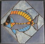 Mosaik aus Fliesenstücken auf Netz, zur Verlegung an der Wand, 30/30cm, VERKAUFT, auf KUNDENWUNSCH auch in anderer Grösse und Farbe herstellbar