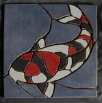 Mosaik aus Fliesenstücken auf Netz, zur Verlegung an der Wand, 31,5/31,5 cm,VERKAUFT, auf KUNDENWUNSCH auch in anderer Grösse und Farbe herstellbar