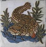 Mosaikkunst aus Fliesenstücken auf Netz,zur Verlegung an Wand , VERKAUFT, auf KUNDENWUNSCH auch in anderer Grösse und Farbe herstellbar