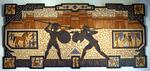 Mosaikkunst aus Fliesenstücken auf Spanplatte,mit Aufhängevorrichtung, 65/140 cm, UNIKAT, PREIS auf Anfrage