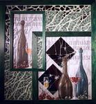 Mosaik/Holz/Glas/Acryl-Collage, M.Haag 2004, 71/66cm, UNIKAT, PREIS auf Anfrage
