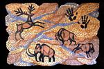 Mosaik aus Fliesenstücken auf Spanplatte, M.Haag 2003, 90/133cm, UNIKAT, VERKAUFT