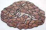 Mosaik aus Fliesen auf Holzplatte,74x50cm,PREIS auf Anfrage